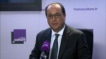 """François Hollande : """"J'ai pris conscience encore davantage du caractère tragique de l'histoire"""""""