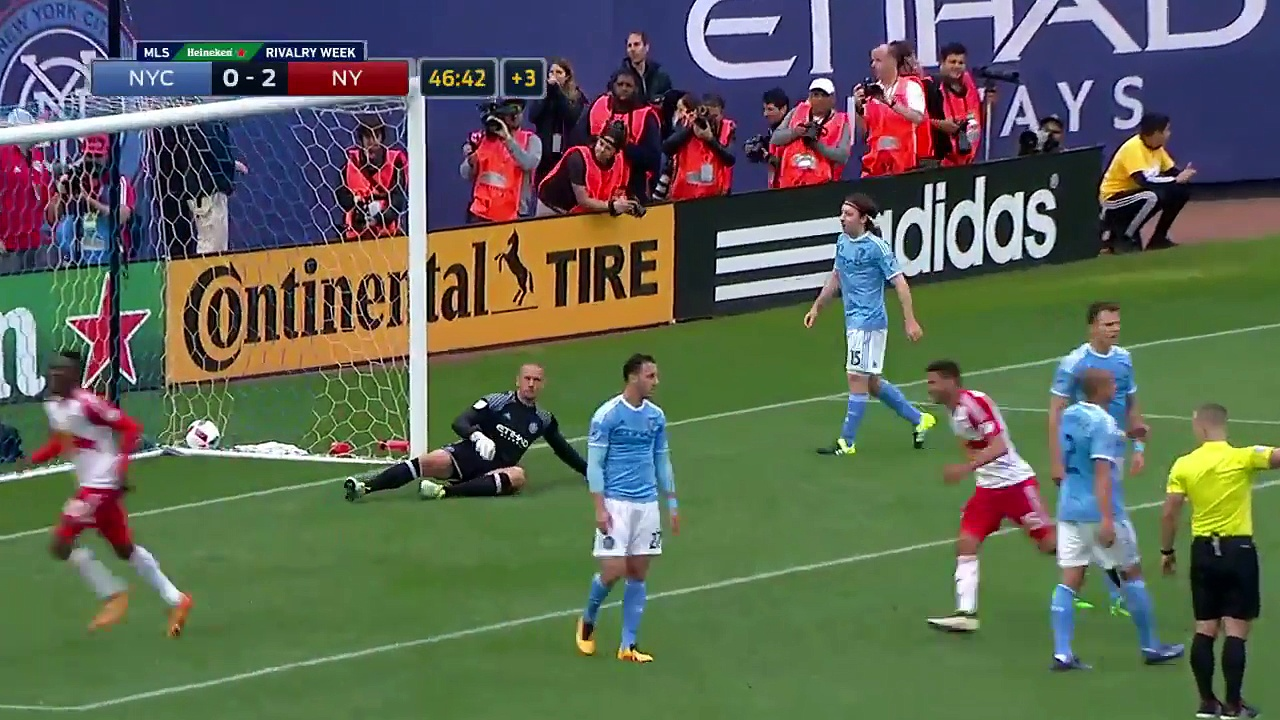 Bradley Wright-Phillips nabs brace with overhead kick 2016 MLS Highlights