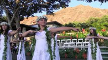 Scenic La Pietra graduation against golden-hued Diamond Head backdrop
