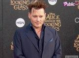 Johnny Depp : sa nouvelle coupe de cheveux au top à l'avant-première de Alice aux Pays des Merveilles 2 !