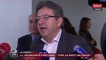 """""""Pour qui vous prenez-vous?"""" Colère de Jean-Luc Mélenchon contre Manuel Valls et François Hollande"""