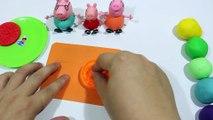 Play Doh - Create Clay Biscuit VS Cookie Rainbow With Peppa Pig Español 2016