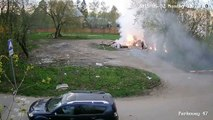 Impressionnante explosion chimique dans une décharge en Russie