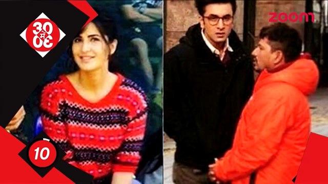Katrina Kaif Is Feeling Happiness On The Sets Of 'Jagga Jasoos' With Ranbir Kapoor Bollywood News.