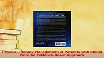 Read  Physical Therapy Management of Patients with Spinal Pain An EvidenceBased Approach Ebook Free