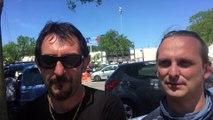 Hervé et Christophe (Syndicat Interco) - Caravane orange Cfdt du Var - Draguignan le 24 mai 2016