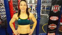 Sara McMann training in Anderson for her upcoming fight vs Jessica Eye UFC Fight Night