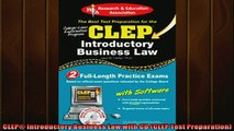 FREE DOWNLOAD  CLEP Introductory Business Law with CD CLEP Test Preparation  BOOK ONLINE