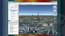 Passeio em pontos turísticos com o Google Earth