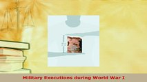 PDF  Military Executions during World War I  Read Online
