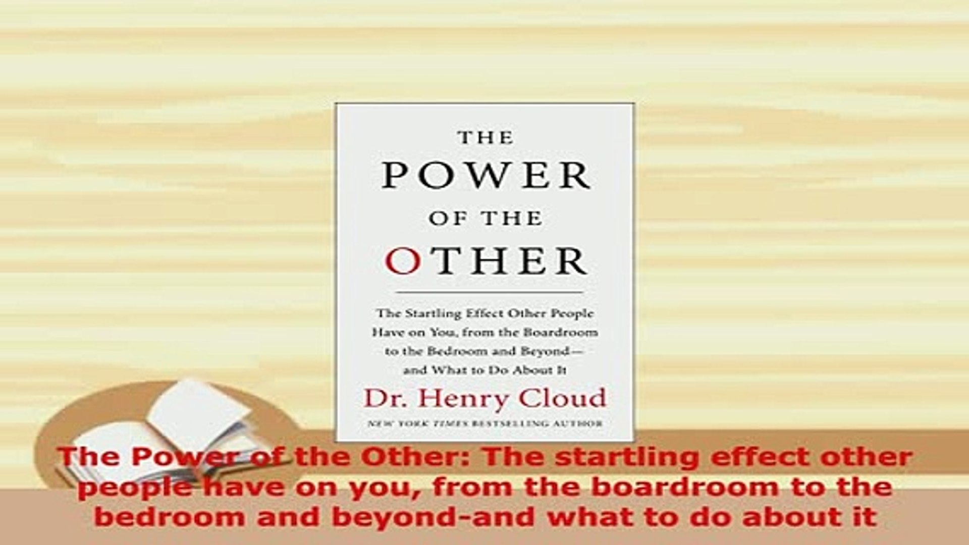 Read  The Power of the Other The startling effect other people have on you from the boardroom PDF On