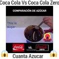 COMPARACION ENTRE COCA COLA Y COCA COLA ZERO !CUAL TIENE MAS AZUCAR ! SE SORPRENDERAS