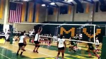 Isabella #19  serving n play def.. @ mar vista  high vs san ysidro cougars. 10/22/14