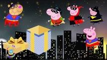 #Peppa Pig Batman Vs Superman Magic Costume Party Finger Family #Nursery Rhymes Lyrics Kids Songs