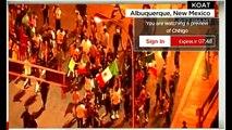 LIVE Footage Donald Trump protesters Trump rally in Albuquerque, NM.