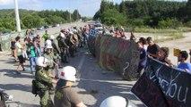 Grèce : manifestation contre l'évacuation du camp d'Idomeni