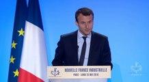 Archive - Discours d'Emmanuel Macron pour l'anniversaire de la Nouvelle France Industrielle