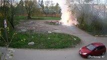 Violente explosion de produits chimiques dans une décharge russe