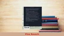 PDF  Pina Bausch Free Books