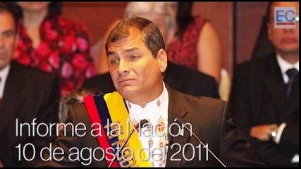 El rostro del presidente Rafael Correa del 2007 al 2016