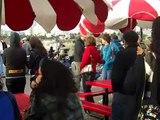 Jessica Lowndes @ filming of 90210 - 1/25/10 santa monica pier