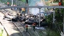 Massy-Palaiseau : un camion tombe sur les voies du RER B