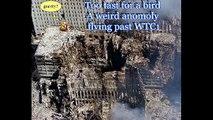 Weird object flies past WTC 1 on 911