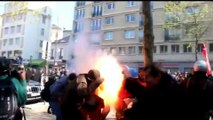 Zapping -French labor reform protests -  No comment