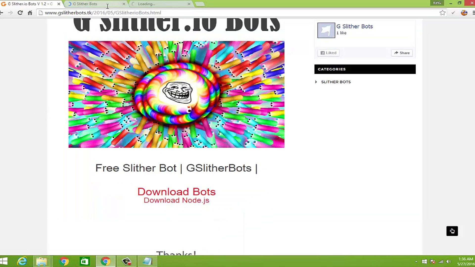 New Slither.io Bots | Free Bots | Gslitherbots tk| 2016 May |