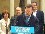 """23-05-07 Gernika Rajoy pide el voto """"por la derrota de ETA"""""""