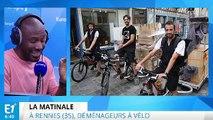 Rennes : ils déménagent uniquement à vélo