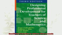 free pdf   Designing Professional Development for Teachers of Science and Mathematics