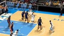 NBA 2K12 Allen Iverson ankle breaker on Baron Davis (Ultimate Base Roster V22) (Nuggets vs Warriors)