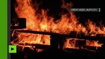 Des barricades en flammes bloquent une centrale nucléaire en marge des grèves contre la loi travail.