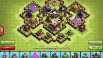 Clash Of Clans - New update 2016 - TH7 Farming base 3 air defense anti giants - TH7 Trophy Base