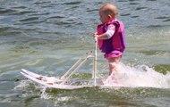 A 6 mois, ce bébé fait du ski nautique et bat le précédent record
