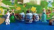 Frozen - Elsa Anna Disney Ovos Surpresas Surprise Eggs-brinquedos Aventura congelante kids toys Princess