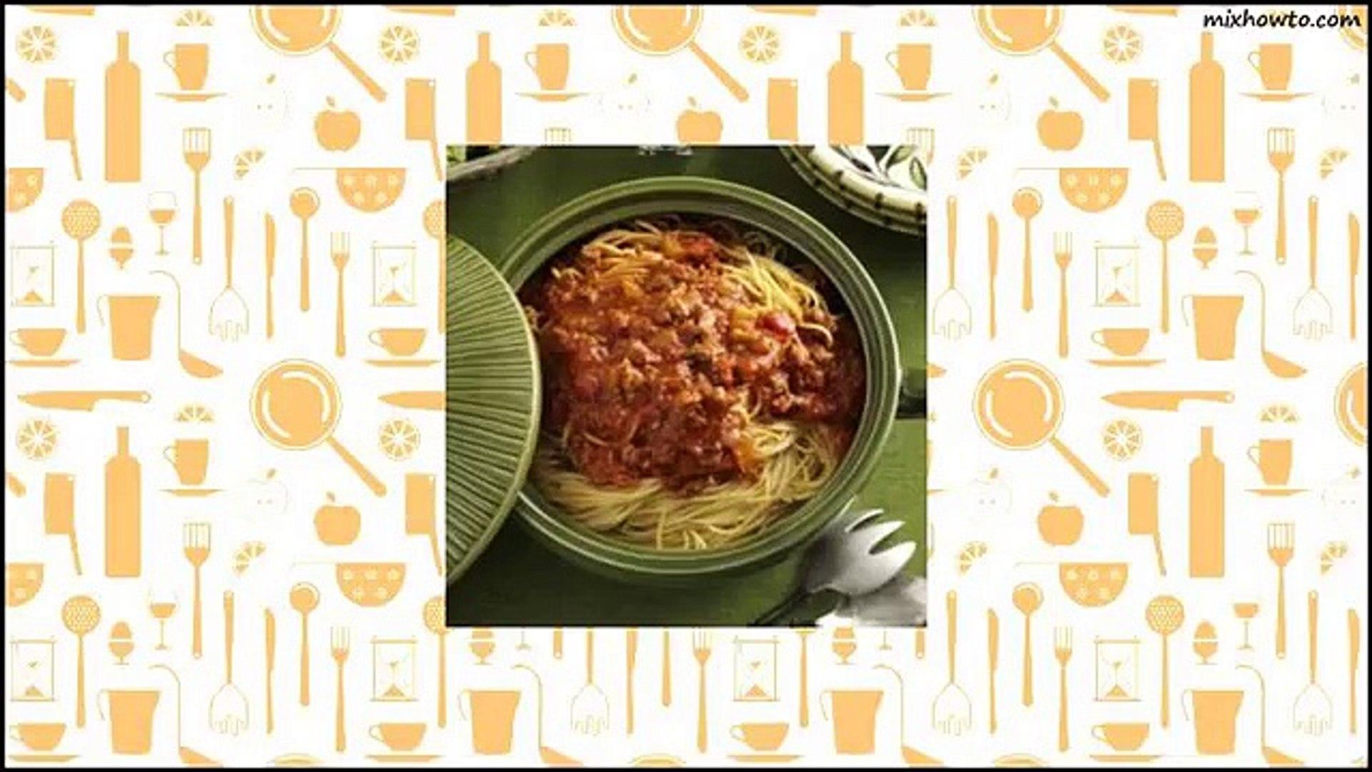 Recipe Family-Favorite Spaghetti Sauce Recipe