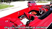 Powerboat vs Cars Drag Race - Toyota Supra and Evolution X