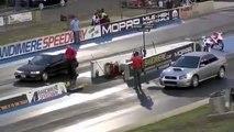 2014 DRAG RACE Honda Civic Turbo vs Subaru WRX STI