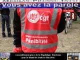 Télévision-Bordeaux-33 Manif du Jeudi 26 Mai plus de 10 Milles personnes dans les rues