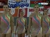 Mundial rítmica 2007. Final conjuntos. Grupo 1 (27-28) Bulgaria (3 aros + 2 mazas)