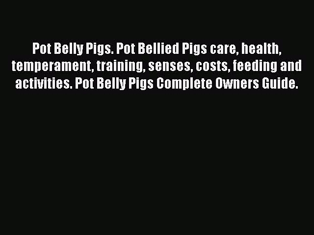 Download Pot Belly Pigs. Pot Bellied Pigs care health temperament training senses costs feeding