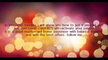 Get FREE Payoneer MasterCard With 25$ Bonus and Verified Paypal Account + Free Credit Card