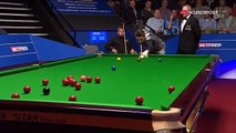 Superb Masse Shot !!! by Mark Selby ᴴᴰ 2016 Betfred World Snooker Championship R1