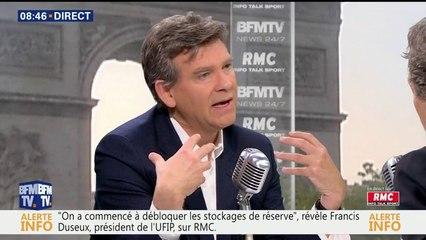 Arnaud Montebourg face à Jean-Jacques Bourdin