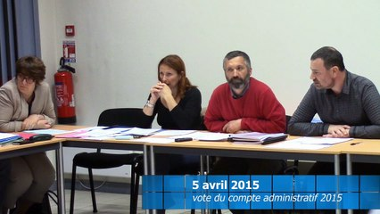 2016-04-05 vote du compte administratif de la CCTA  2015