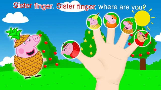 Pepa Pig Fruits Finger Family \ Nursery Rhymes and More Lyrics