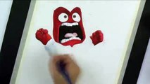 SPEED DRAWING ANGER from Inside Out   Angry Emotion Watercolor Painting
