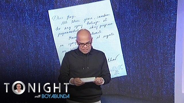TWBA: Boy Abunda receives a letter from Charo Santos-Concio